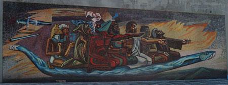 El retorno de quetzalc atl for Mural quetzalcoatl